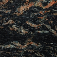 Image of tropical black granite sample