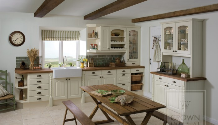 Image of kitchen with wood countertops