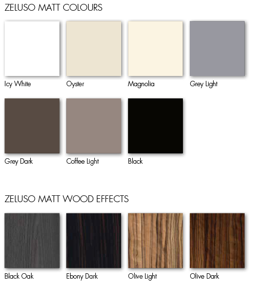 Image of wood samples in variety of colours