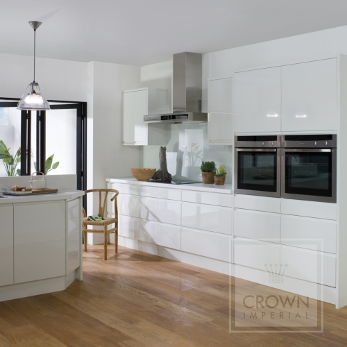 White Kitchen Grey Wooden Floor