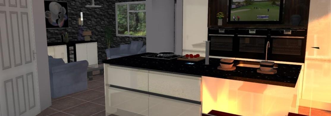 Example of custom 3D Kitchen Design