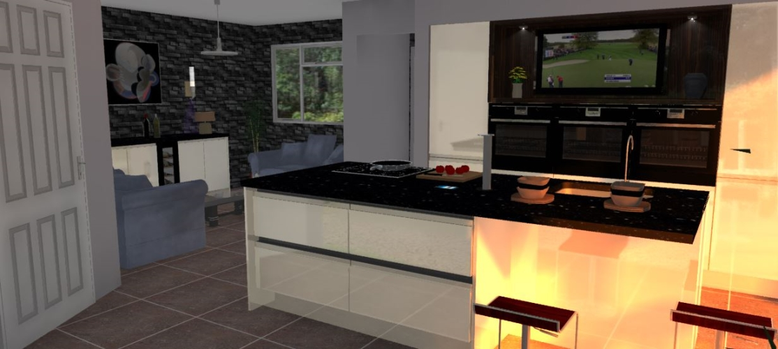 Example of custom 3D Kitchen Design
