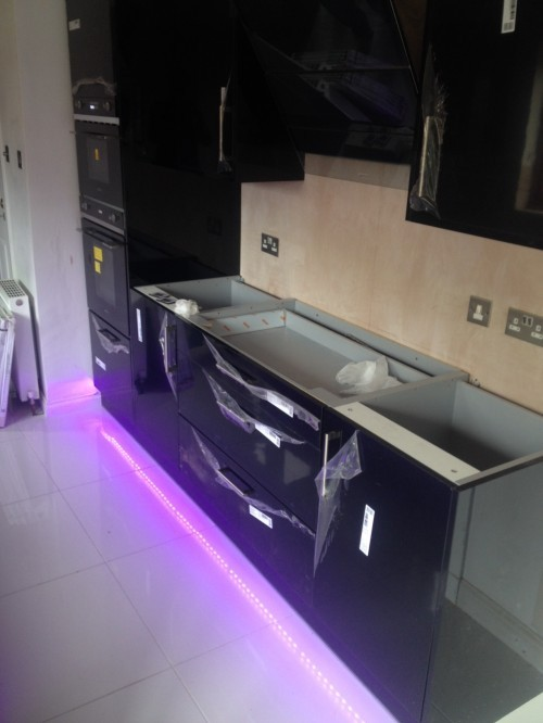 Installation of new cabinets and custom worktops