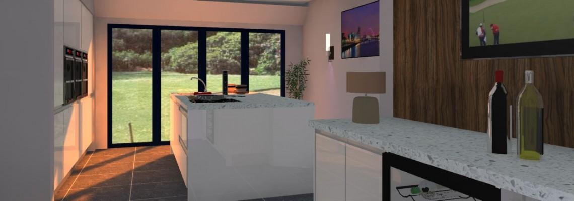3D Design Example Island Unit