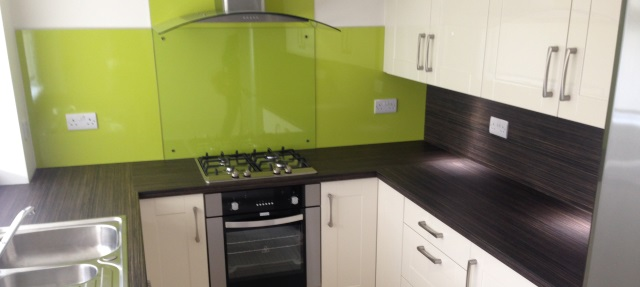 kitchen in hamilton with a lime green contrast. Black Bedroom Furniture Sets. Home Design Ideas