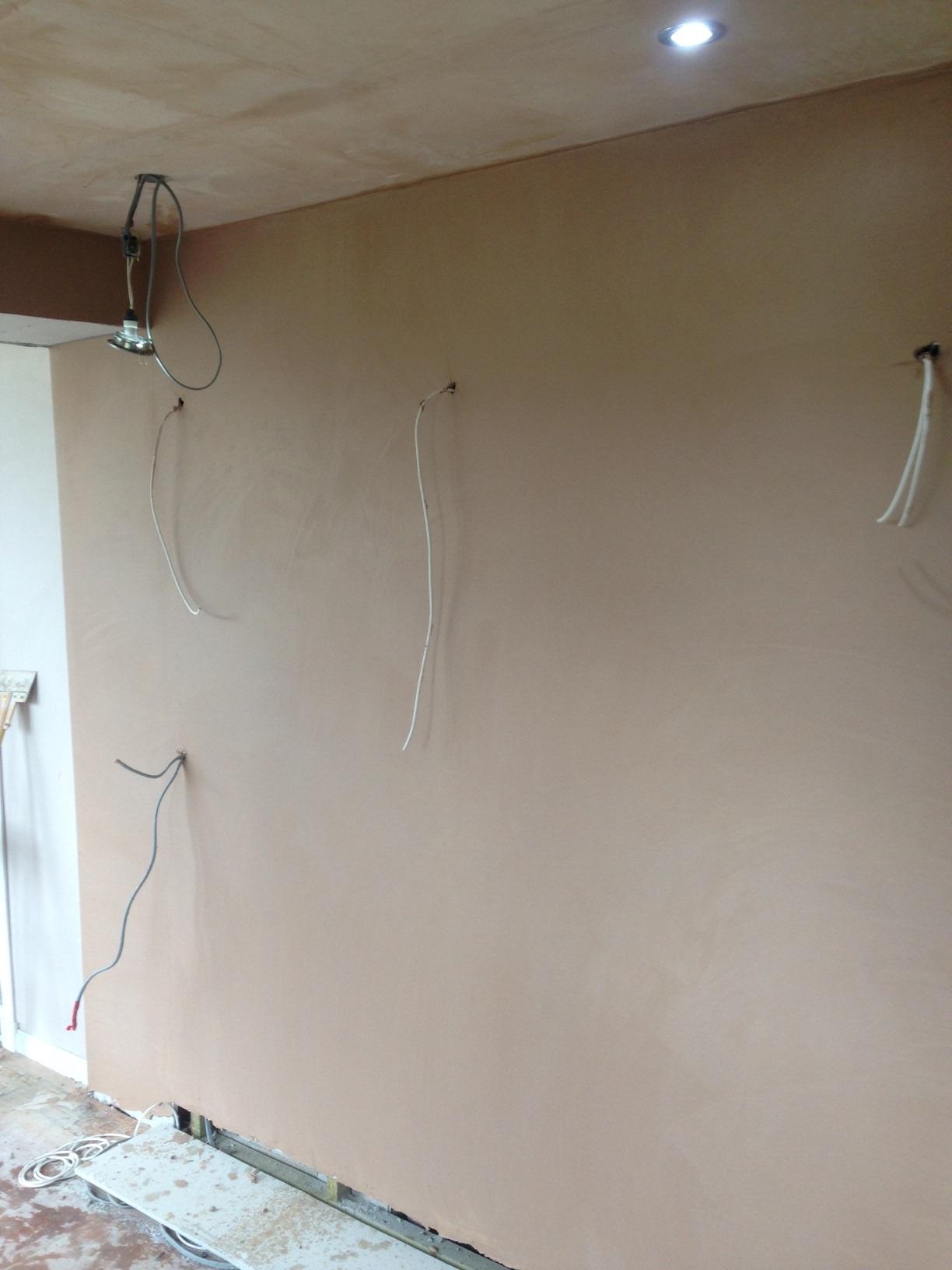 Plaster walls and box in door