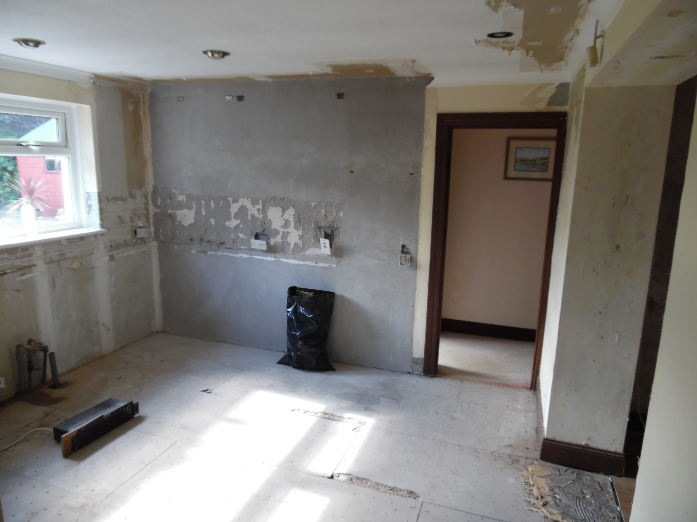 Stripping out the kitchen