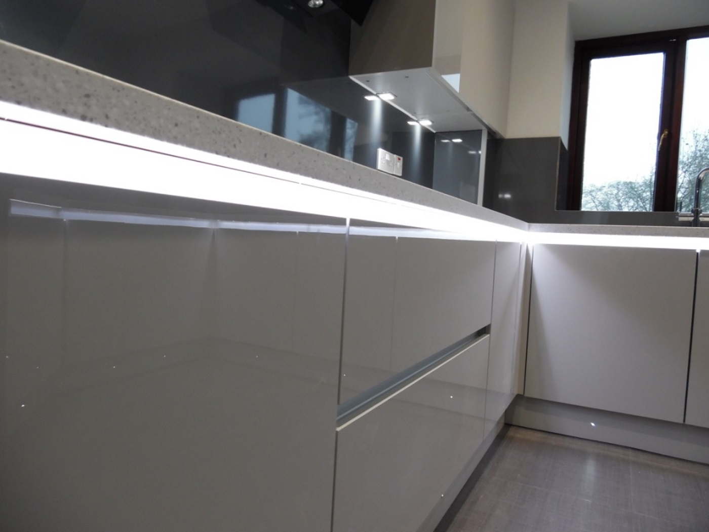 Kitchen units strip lights
