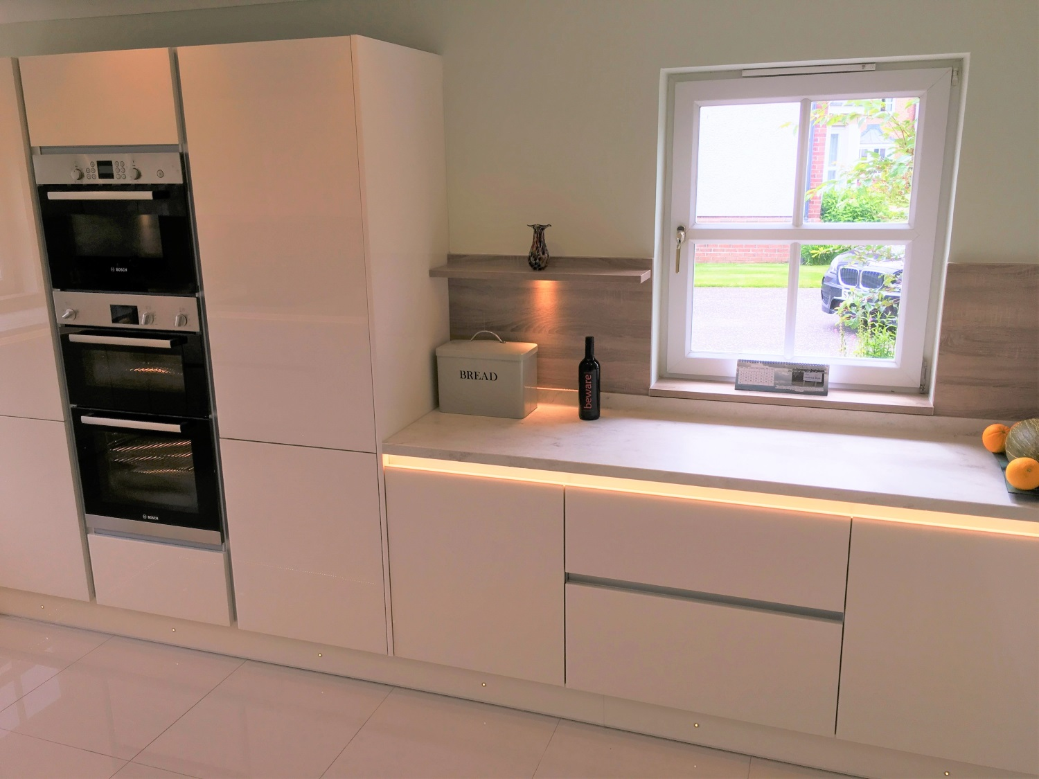 Oven Housing Unit with Bespoke wall shelve