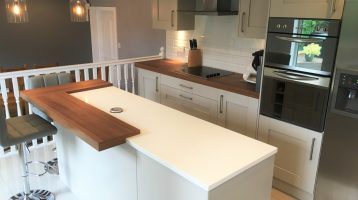 Light Grey Shaker Kitchen, Newton Mearns