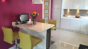 Giffnock, Kitchen Design, Acrylic White Gloss