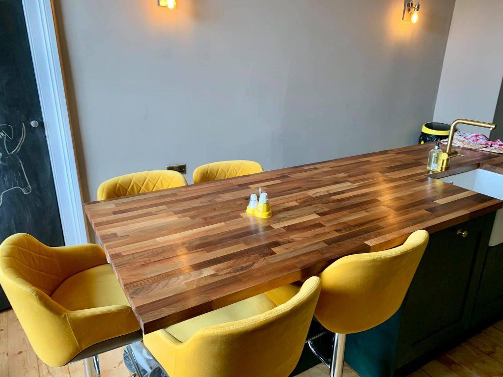 Solid Oak Breakfast Bar